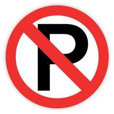 """No parking sign sticker decal 4"""" x 4"""" CCS http://www.amazon.com/dp/B00I8H5U0W/ref=cm_sw_r_pi_dp_GKAAwb1CJRZ4A"""