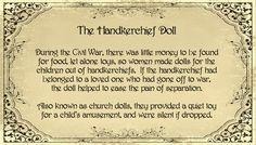 It's So Purdy!: How To: Civil War Handkerchief Dolls