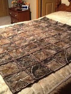 Laura's Camouflage Rag Quilt