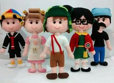 Chaves Felt Dolls, Plush Dolls, Paper Dolls, Baby Quiet Book, Felt Baby, Little Puppies, Homemade Crafts, Felt Ornaments, Stuffed Toys Patterns