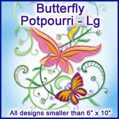 A Butterfly Potpourri Design Pack - Lg