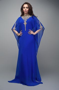 kaftan dubai modern biru ~ MUKENA ARTIS INDONESIA blue kaftan | Style Inspirations