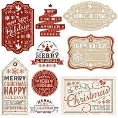 Set of Christmas labels frames and gift tags. file contains Christmas Gift Tags and Labels Royalty Free Stock Vector Art Illustration Source by justdestinymag Noel Christmas, Christmas Gift Tags, Winter Christmas, All Things Christmas, Vintage Christmas, Xmas, Rustic Christmas, Christmas Bingo, Christmas Scrapbook