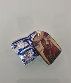 Orthodox Special Amulet Rectangular pendant with handmade icon of Mother of God,FIlachto ,Filakto ,Filaxto Orthodoxer Glücksbringer Jewelry Crafts, Bracelet Watch, Pendants, Crafty, God, Beads, Cotton, Handmade, Accessories