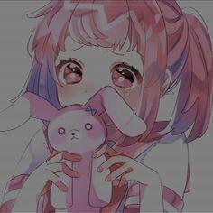 #animebun #animeicons #animesketch #animewolf Loli Kawaii, Kawaii Anime Girl, Anime Art Girl, Manga Art, Sad Anime, Anime Chibi, Anime Best Friends, Animated Icons, Anime Lindo