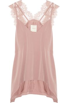 Mason by Michelle Mason | Lace and washed-silk camisole | NET-A-PORTER.COM  Might work well for Colour Summer-Types!