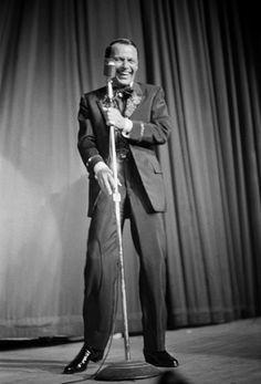 Frank Sinatra performing at a Share Party circa 1963