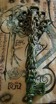 R'lyeh Cthulhu Key by MrZarono - Necronomicon Lovecraft, Lovecraft Cthulhu, Hp Lovecraft, Cthulhu Art, Call Of Cthulhu, Dcc Rpg, The Magic Faraway Tree, Yog Sothoth, Lovecraftian Horror