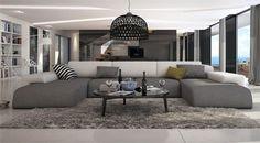 Ce grand canapé d'angle en U conférera à votre salon moderne un look irrésistible grâce à ses lignes élégantes et originales. Sa mousse haute résilience confère à ce canapé une assise incomparable. Créé et testé pour une longévité maximale, ce magnifique ensemble d'angle design vous procurera un excellent confort pour votre plus grand plaisir.