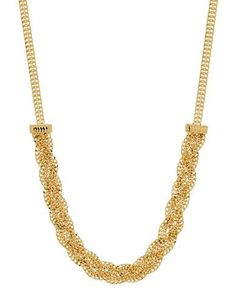 Lord & Taylor Gold Rush 14K PDC Yellow Gold Braided Necklace Women's Y