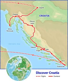 Discover Croatia tour itinerary