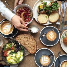 Breaking the fast. #BluestoneLane #coffeeshoptabletop #Australiancoffeeculture #morningslikethese