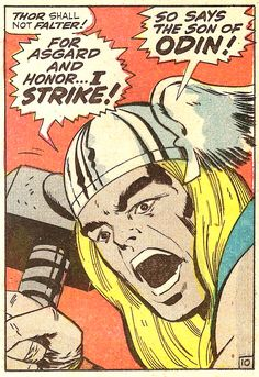 For Asgard And Honor (by Jack Kirby & Vince Colletta from Mighty Thor #159, 1968)