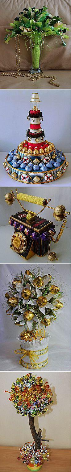 Изготовление основы для конфетного букета-лодочки +  Конфетные Фото-Идеи для…