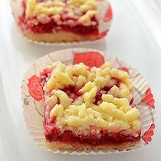 Raspberry Crumb Bars ....raspberries, lemon zest, egg, baking powder, flour, sugar, vanilla, butter, sour cream, bread crumbs