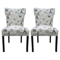 Paris Accent Chair in Onyx (Set of 2) at Joss & Main