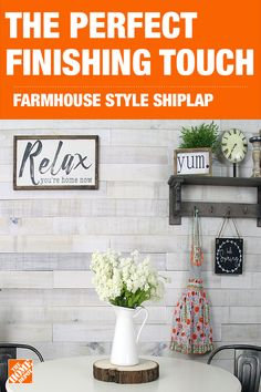 Shiplap - Appearance Boards & Planks - Boards, Planks & Panels - The Home Depot Interior Design Living Room, Living Room Designs, Kitchen Design, Kitchen Decor, Kitchen Modern, Shiplap Wood, Spanish Style Homes, Farmhouse Kitchen Cabinets, Ship Lap Walls