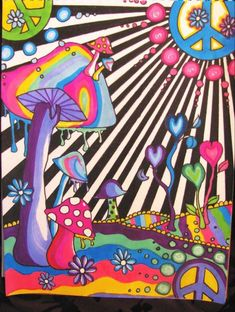 hippie painting ideas 708120741393253109 - Mushrooms are Yummy by lyndseyevelyn Source by manonternisien Indie Drawings, Trippy Drawings, Psychedelic Drawings, Art Drawings, Psychedelic Pattern, Easy Canvas Art, Small Canvas Art, Mini Canvas Art, Hippie Painting