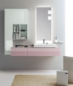 The #bathroom according to Scavolini | Orchid & Ice |