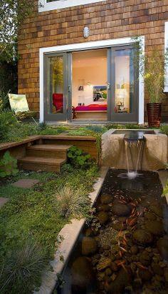 slim garden & water feature