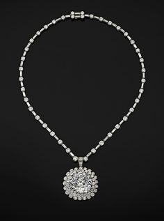 """Idol's Eye"" Diamond with Harry Winston Necklace"