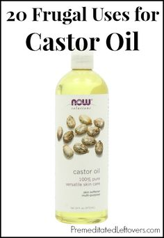 20 Frugal Uses for Castor Oil - 20 ways to use castor oil including beauty treatments and home remedies.: 20 Frugal Uses for Castor Oil - 20 ways to use castor oil including beauty treatments and home remedies. Natural Home Remedies, Natural Healing, Beauty Care, Beauty Hacks, Castor Oil Uses, Castor Oil Skin, Castor Oil For Hair Growth, Just In Case, Just For You