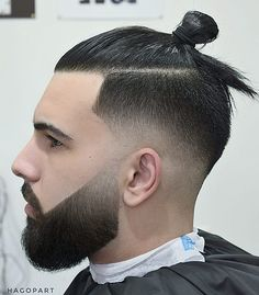 Sumarai man bun hairstyles for men