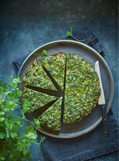 You'll go cuckoo for this striking one-pan dish inspired by a traditional Persian frittata called kuku sabzi. Iranian Cuisine, Iranian Food, Vegetarian Recipes, Cooking Recipes, Healthy Recipes, Vegetarian Frittata, Kuku Sabzi, Kookoo Sabzi, Arabic Food