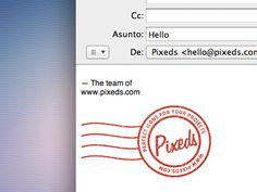 Pixeds-mail  ----- nice way to show email sig