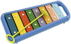 Toddler Gockenspiel by Music Treasures Co.. $25.00. Eight multi-colored, Precision tund bars give any toddler room to make bright, colorful sounds. Includes child safe mallet and attractive carrying Case. 12+ months. Save 17%!