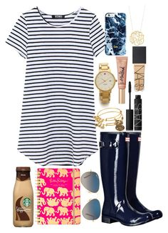 """""""How do you spell love? You don't spell it, you feel it.- Piglet & Pooh"""" by kendall-douglas ❤ liked on Polyvore featuring Hunter, Lilly Pulitzer, Kate Spade, Alex and Ani, Too Faced Cosmetics, NARS Cosmetics, Ray-Ban and Ginette NY"""