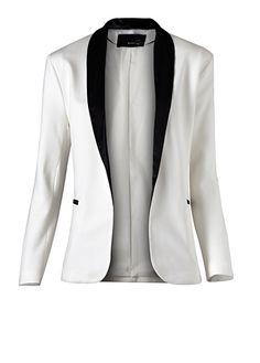 Dapper white tuxedo jacket