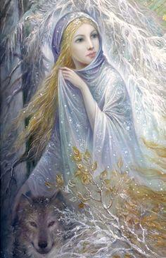 Realismo y Fantasía...Seasons (Winter), de Nadia Strelkina...bellísimo cuadro.