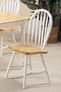 ACME 02613NW Set of 4 Farmhouse Spindle Side Chair, Natural and White Finish