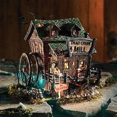 image search results for department 56 halloween house displays