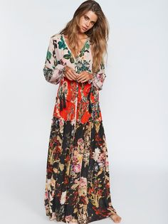 Mixed Floral Maxi Dress | freepeople.com SIZE S