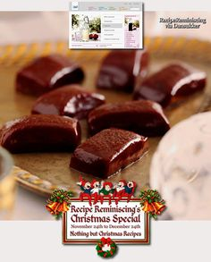 Chocolate & Mint Toffees / Sjokolade Og Mintkarameller - A fancy toffee recipe from dansukker.no - Toffees can be made year-round, but for many it will not be a proper Christmas without a few types of toffees among the homemade Christmas sweets. - http://recipereminiscing.wordpress.com/