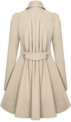 FALL FASHION: Umlife Women Wool Blends Coat Slim Trench Winter Coat Long Jacket Outwear