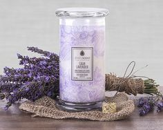 ***Calm Lavender Classic Candle*** Relax and unwind to the soothing scent of lavender with hints of geranium and some sheer wood notes.  Each Classic Candle contains 16oz of wax in a 20oz glass. These candles contain one mystery ring valued at $10 to $7,500