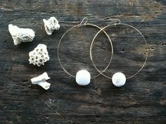 The Galit Hoop  Ivory Bone beads on a large gold wrapped hoop  http://www.etsy.com/shop/goldielockes