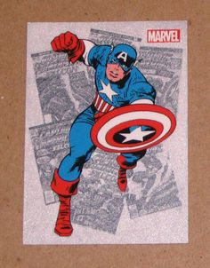 Marvel Bronze Age (Rittenhouse 2012) Classic Heroes Card CH1 Captain America EX