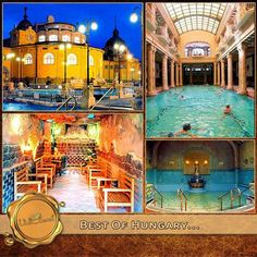Thermal Baths, How Beautiful, Hungary, Countryside, Taj Mahal, Places To Go, Mansions, Architecture, House Styles