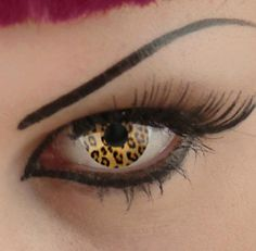 Leopard Contact Lenses. If these weren't so dangerous to put in your eyes they would be AWESOME!