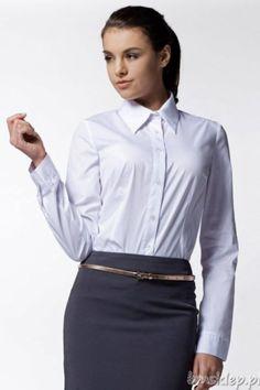 Koszula Damska Klasyczna K10, długi #rekaw, kołnierzykSkład surowcowy: 80% #bawelna, 17% nylon, 3% elastanPrezentowany rozmiar to 36/38, wzrost modelki: 172Klasyczna koszula z długimi rękawami, zapinana z przodu na #guziki. Fason podkreśla atuty kobiecej sylwetki.Klasyka gatunku, idealna na każdą okazję. Niezbędny element kobiecej garderoby.... #Koszule - http://bmsklep.pl/koszule