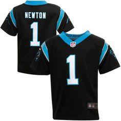 nfl jersey new zealand Toddler Carolina Panthers Cam Newton Nike Black Game  Jersey 27199baa6