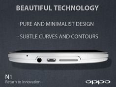 The OPPO N1 is designed with a beautiful dual line philosophy. Two finely cut chamfers run through the sides of the device emphasizing its pure and minimalist design. en.oppo.com/n1/ #OPPON1