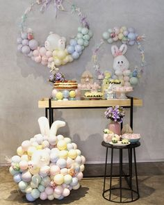 Easter Birthday Party, Bunny Birthday, Birthday Party Themes, Ideas Actuales, Second Birthday Ideas, Bunny Party, Festa Party, Easter Bunny Decorations, Baby Shower Parties