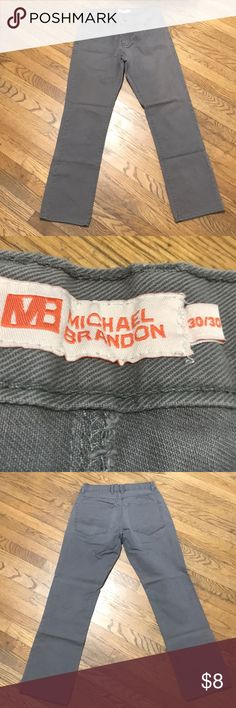 Mens Michael Brandon Grey Straight Jeans Sz 30x30 Mens Michael Brandon Grey Straight Jeans Sz 30x30 michael brandon Jeans Straight