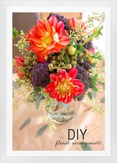 quick diy flower arrangement
