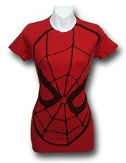 Spiderman Juniors Red Mask (30 Single) T-Shirt